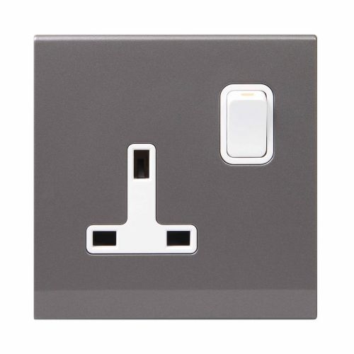 Simplicity Grey Screwless 13A Single Plug Socket 07322